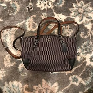 Small Coach Purse (fabric and leather)